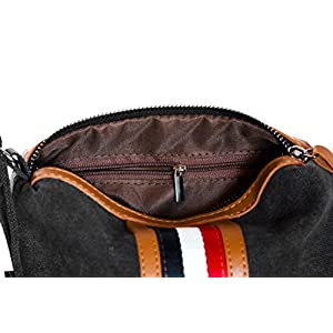 Toiletry Bag Travel Kit (Dopp Kit) for Men and Women Makeup Bag Cosmetic Pouch with 3 Compartments Handmade Premium Quality Black Canvas Perfect Gift