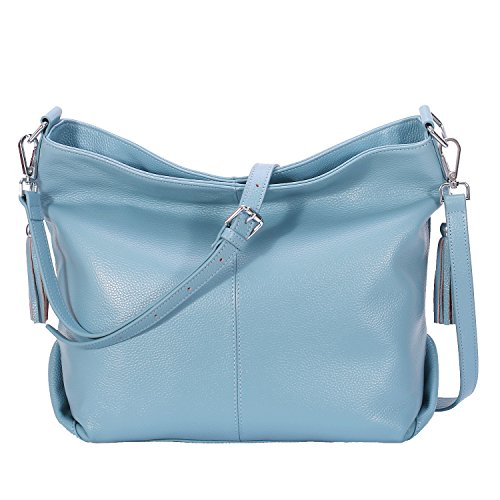 Vintage Ladies handle Purse Gray BIG SALE AINIMOER Body Top Tote Bag Leather Bags Cross Womens Blue Handbags Shoulder Large 7In0HWnT