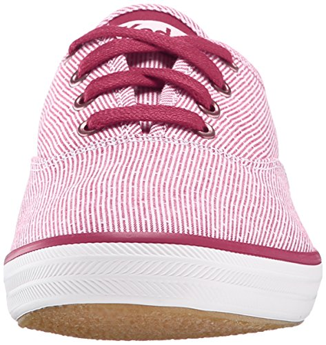 Keds Womens Womens Champion Stripe Fashion Sneaker Rosso