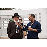 Parkland Director Peter Landesman in Blue Botton Down Holding Coffee Cup Providing Direction 8 x 10 inch photo