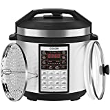COSORI Upgraded 9-in-1 6 Qt Electrical Pressure Cooker with Instant Stainless Steel Pot, 19 Program Slow Cooker, Rice Cooker, Yogurt Maker, Sauté, Steamer, Warmer, Extra Sealing Ring, 2-Year Warranty