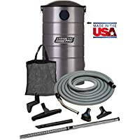 VacuMaid GV30PRO Wall Mounted Garage and Car Vacuum with 30 ft. Hose and Tools.