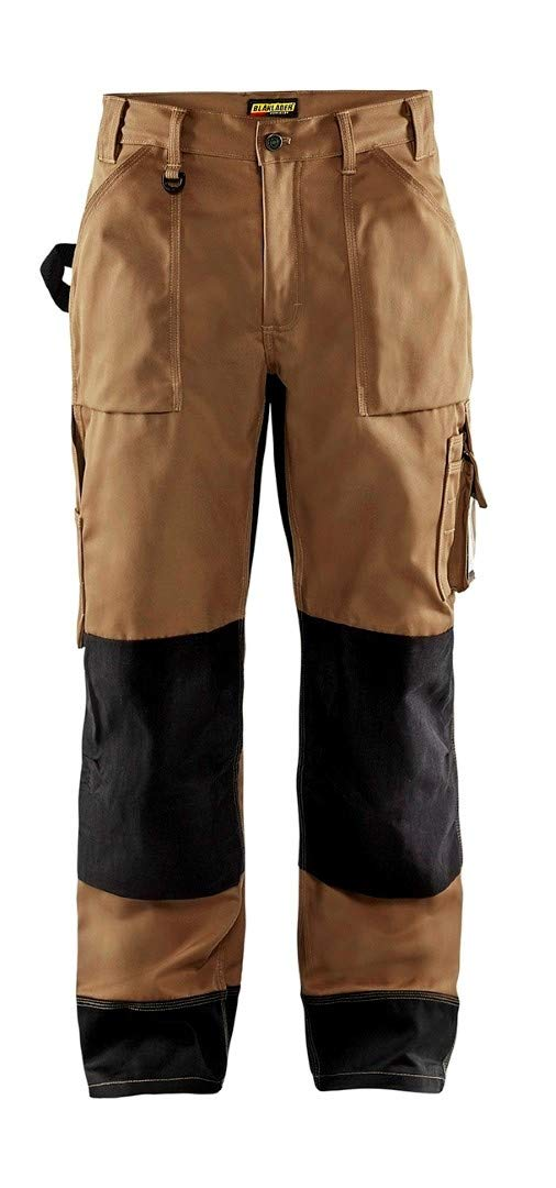 152318602499C50 Trousers Size 34/32 (Metric Size C50) IN Kaki/Black by Blaklader (Image #1)