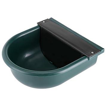 Bebedero Verde de Plástico, 4L Fregadero de Válvula de Flotador Bebedor de Ganado, para