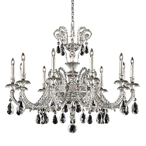 - Schonbek GE4711N-27A Genzano 11 Light 110V Chandelier in Parchment Gold with Clear Spectra Crystal