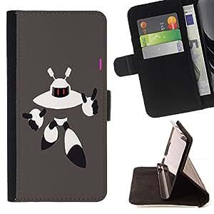 For Samsung Galaxy J3(2016) J320F J320P J320M J320Y Case , Extranjero del robot- la tarjeta de Crédito Slots PU Funda de cuero Monedero caso cubierta de piel