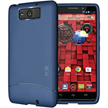 TUDIA Full-Matte ARCH TPU Bumper Protective Case for Motorola Droid Maxx (Late 2013) XT1080M (Matte Blue)