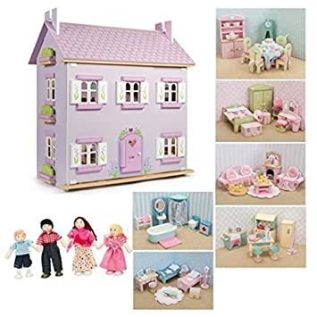 Le Toy Van Sophies House Dolls House With Furniture (6 Sets Daisylane  Furniture + My