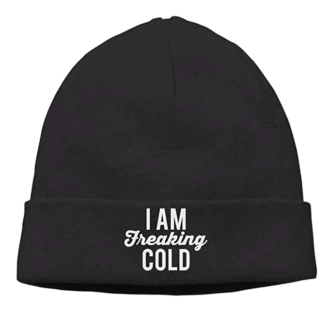 699e49a549f GHEDPO I Am Freaking Cold Soft Knit Beanie Hat Warm Thick Winter Hat for  Men I Am Freaking Cold Winter Warm Cap  Amazon.ca  Clothing   Accessories