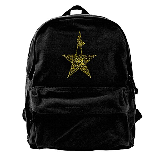 Canvas Backpack, Hamilton The Musical Casual Laptop School Bag Daypack For Travel, Hiking, Camping