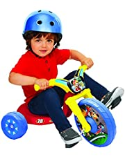 """Mickey and the Roadster Racers 10"""" Fly Wheel Tricycle Ride-on, Red/Blue/Yellow, 12.2"""" x 19.8"""""""
