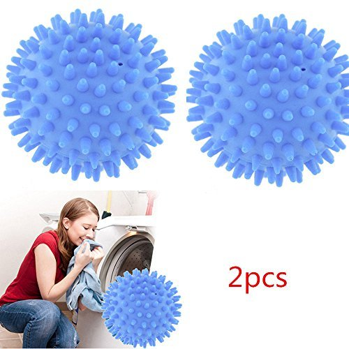 2PCS Unhappy Dryer Ball No Chemicals Wash Washing Laundry Soften Cloth New Hot