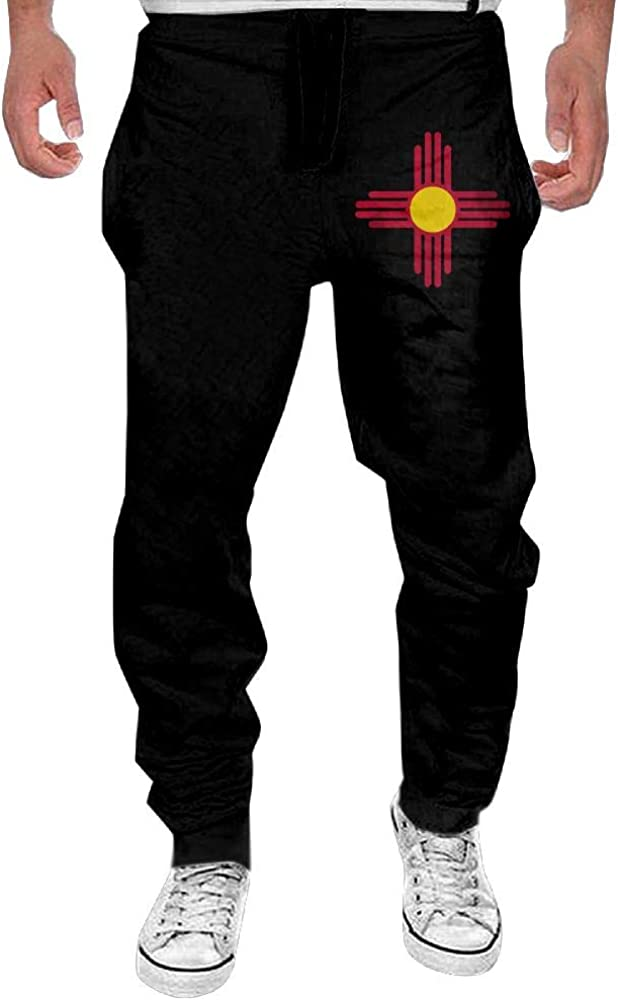 Yecx-1 Mens Flag Mexico Casual Cotton Jogger SweatpantsRunning Beam Trousers