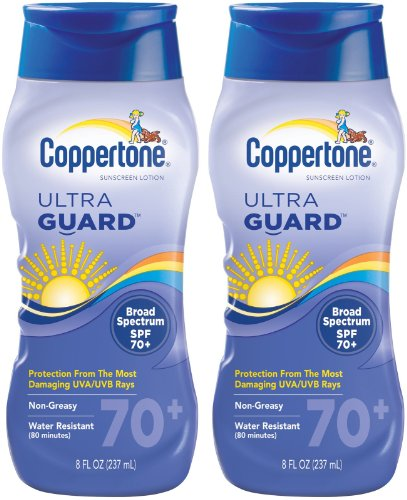 Coppertone ultraGUARD Lotion SPF 70 Sunscreen-8 oz, 2 pack