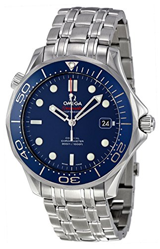Omega Mens 212.30.41.20.03.001 Seamaster Diver 300m Co-Axial Automatic Swiss Automatic Silver-Tone Watch