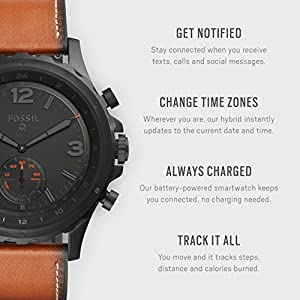Fossil Men's Nate Stainless Steel Hybrid Smartwatch