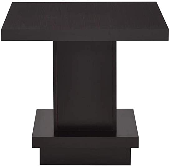 Coaster Home Furnishings Pedestal End Table Cappuccino