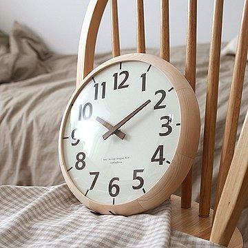 掛け時計 モダンウッド 壁掛け時計 おしゃれ 掛時計 北欧 時計 インテリア ハンドメイド 木製掛け時計 B071GXSSGJ
