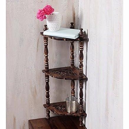 Onlineshoppee Wooden Mini Corner Rack Side Table Home Da C Cor