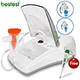 Bestest Plus Compressor Nebulizer Machine Complete kit with Child and Adult Mask ( With FLOW CONTROLLER )