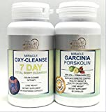 Weight Lose Combo – Miracle OXY Cleanse 7 Day Total Body Cleanser and Garcinia FORSKOLIN