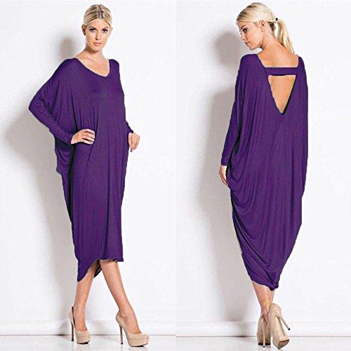 Damen Cocktail Backless Midi Kleid EUR Größe 3654 Lila MHGk4 ...