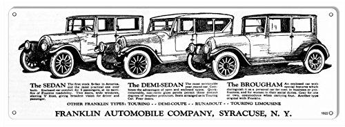 Franklin Sedan Classic Cars Reproduction Garage Art Metal Sign 6x18