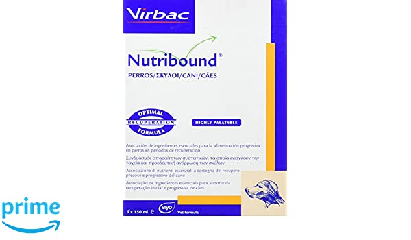 Virbac 3597133067583 Nutribound 3 Botellas para Perros - 150 ML: Amazon.es: Productos para mascotas