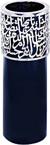 Noon Art Handmade Vase - Black Silver