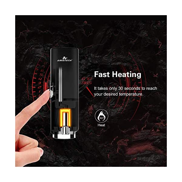 Airistech Dry Herb Vaporizer with Isolate Airflow,Fast Heating, Vibration Notification, 2200mA Huge Capacity Battery Herbal Vaporiser, No Nicotine
