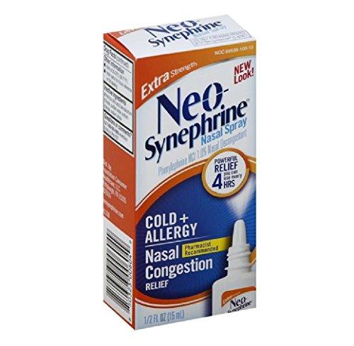 Neo-Synephrine Nasal Spray , Extra Strength Formula, 0.50 Ounces each (Value Pack of - Nasal Spray Strength Extra