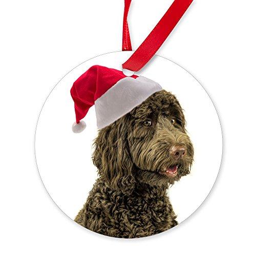- CafePress Santa Labradoodle Ornament Round Christmas Ornament