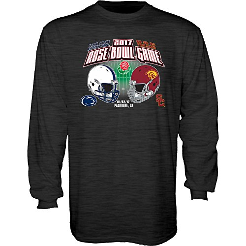 Penn Bowl State Rose (Elite Fan Shop Penn State Vs USC Rose Bowl Long Sleeve Shirt Charcoal - L)