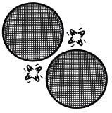 Universal 15 Inch (15') Subwoofer Speaker Metal Waffle Cover Guard Grill Pack of 2 (Pair)