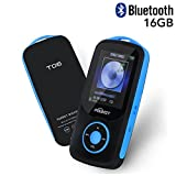 Mp3 Player with Bluetooth 16GB Support up to 64GB-Blue by TIMMY