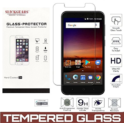 n Protector Compatible with ZTE Avid 4, ZTE Tempo X, ZTE Blade Vantage, ZTE Fanfare, UltraClear [9H] Scratch Abrasion Resistance Impact Protection Shatterproof Glass ()