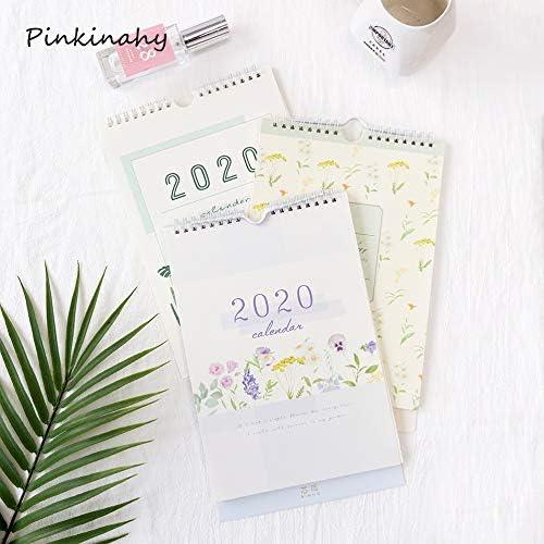 Tischkalender Kalendarien 2020 Schedule Kalender Original Handgemalte Illustration Abreißkalender Monatsprogramm Veranstalter Coil Kalender 2019-2020 (Color : 1)