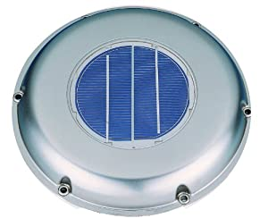 Solatron Stainless Steel Solar Vent Fan With Rechargeable Battery And Remote Solar