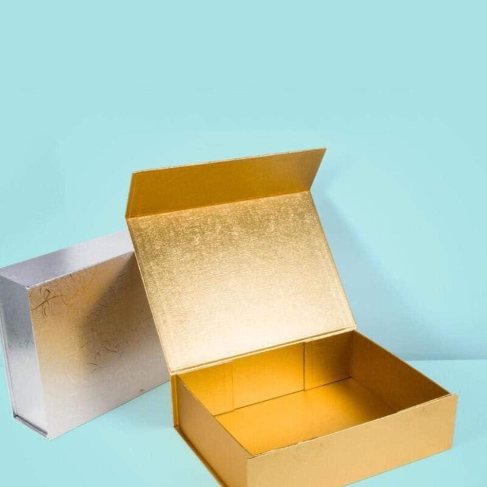 Home N Gadget 10 unids/Lote cartón Liso Caja rígida Plegable Cierre magnético 6 Colores Disponibles Embalaje Pelucas de Cabello Caja de Regalo cosmética en Bolsas de Regalo y Envoltura: Amazon.es: Hogar