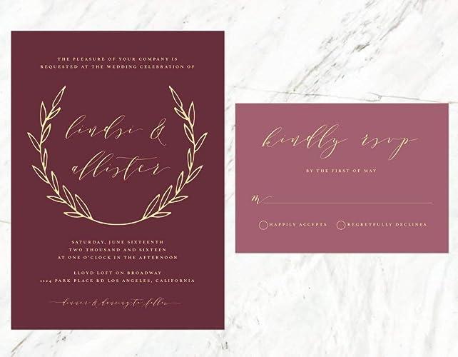 Undangan Pernikahan Burgundy 4