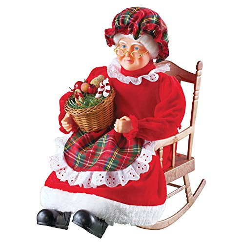 Collections Etc Musical Mrs. Claus Christmas Tabletop Decoration