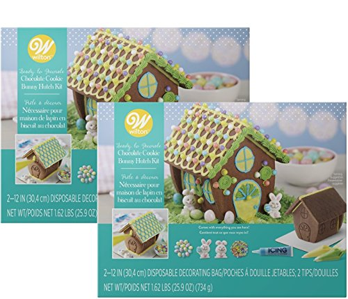 Wilton Ready-to-Decorate Bunny Hutch Chocolate Cookie Kit 21