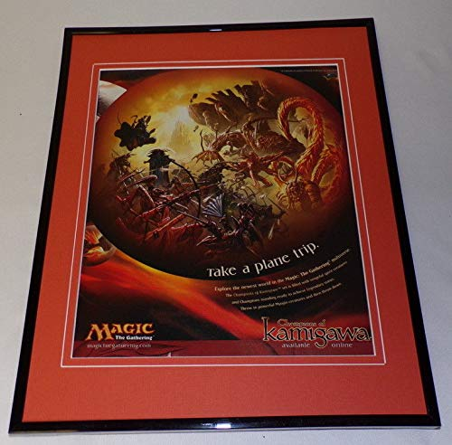 Magic the Gathering Champions of Kamigawa Framed 11x14 ORIGINAL Advertisement