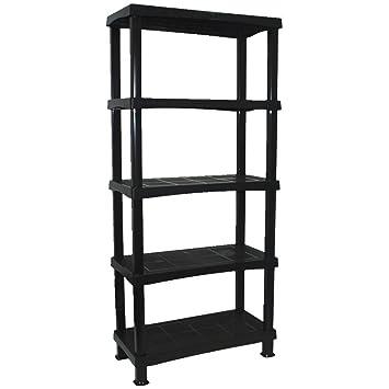 crazygadget storage shelving shelves unit 5 tier racking plastic