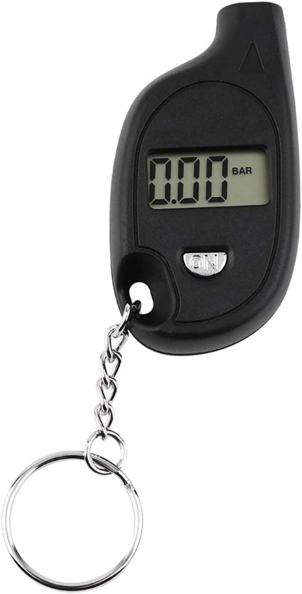 con batteria al litio a celle Ballylelly Mini Keychain LCD Digital Tire Tire Air Pressure Tire Air Pressure Tool Motociclo per auto