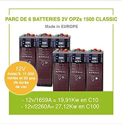 Parque de 6 baterías de 2 V OPZs 1500