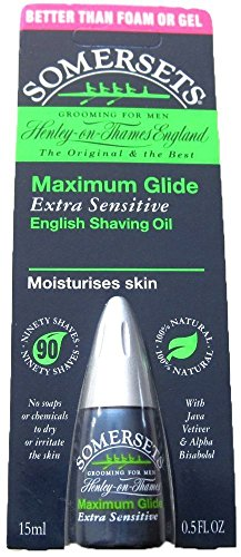 Somersets Extra Sensitive Shaving Oil, 15ml Bottles (2 Pack)