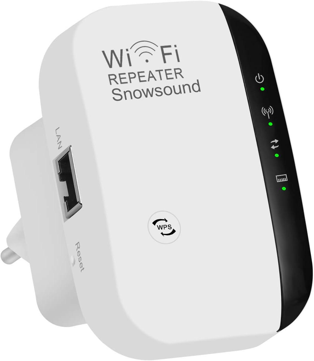 Amplificador WiFi Repetidor Extensor de alcance inalámbrico 300Mbps WiFi Signal Booster Red 2.4G con antenas integradas de puerto LAN Admite el modo ...