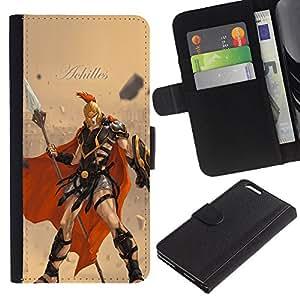 YiPhone /// Tirón de la caja Cartera de cuero con ranuras para tarjetas - Aquiles - Apple Iphone 6 PLUS 5.5