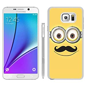 Samsung Galaxy Note 5 Case ,Despicable Me with Mustache 48 white Samsung Galaxy Note 5 Cover Fashionable And Unique Custom Designed Phone Case